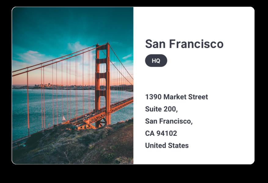 Address of Sajari San Francisco office