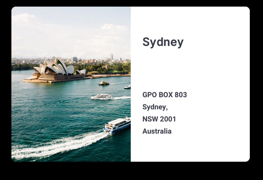 Address of Sajari Sydney office